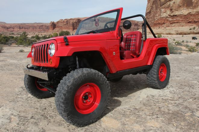 Jeep shortcut concept with two doors