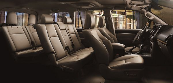 Interior of 2017 Toyota Land Cruiser Prado