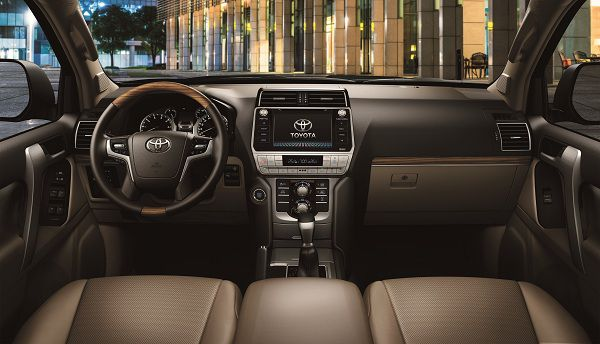 Interior of the 2017 Toyota Land Cruiser Prado