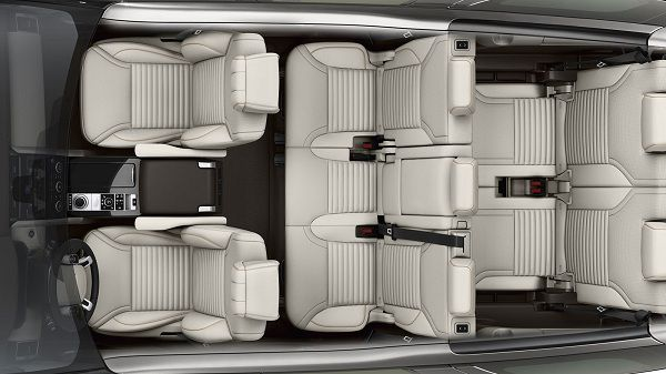 Interior of 2017 Land Rover Discovery