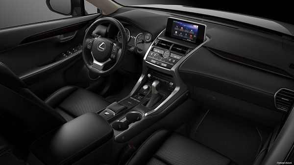Interior of the 2018 Lexus NX