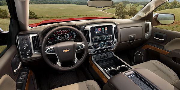 Interior of the 2018 Chevrolet Silverado