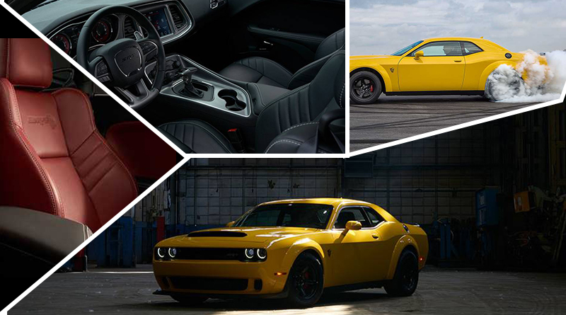 Best off road cars - 2018 Dodge Challenger SRT Hellcat with a V8 Engine