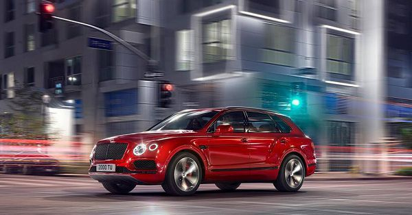 Exterior of the 2018 Bentayga