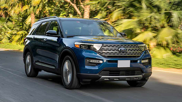 Exterior of the 2020 Ford Explorer
