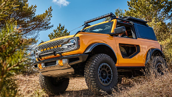 Exterior of 2021 Ford Bronco