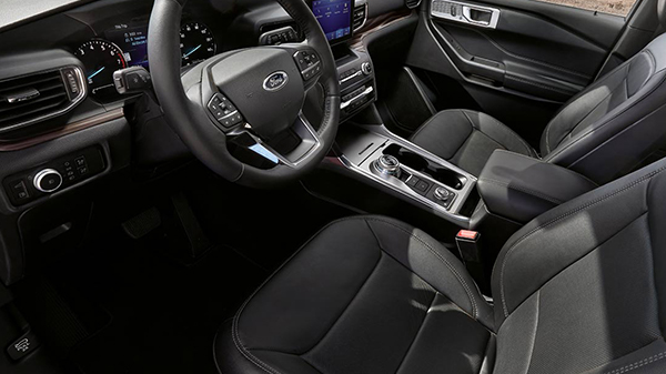 Interior of the 2020 Ford Explorer