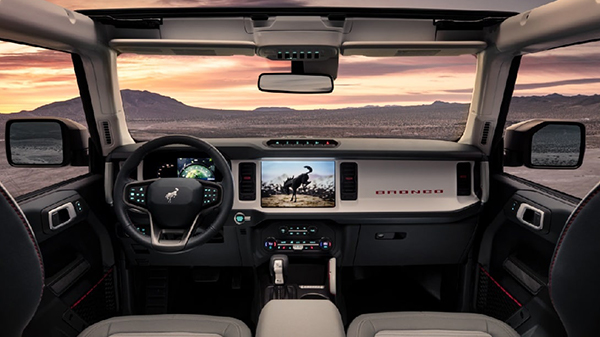 Interior of the 2021 Ford Bronco