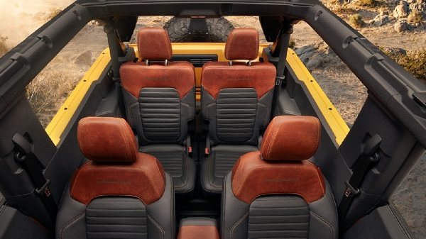 Interior of 2021 Ford Bronco