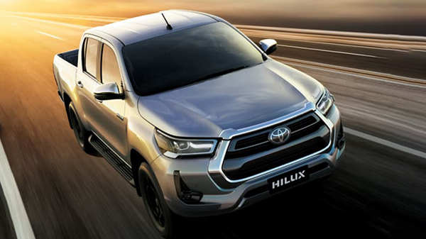 Exterior of 2021 Toyota Hilux