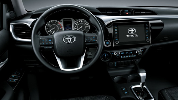 Interior of 2021 Toyota Hilux