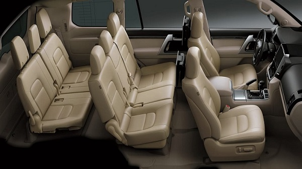 Interior of the 2021 Toyota Land Cruiser
