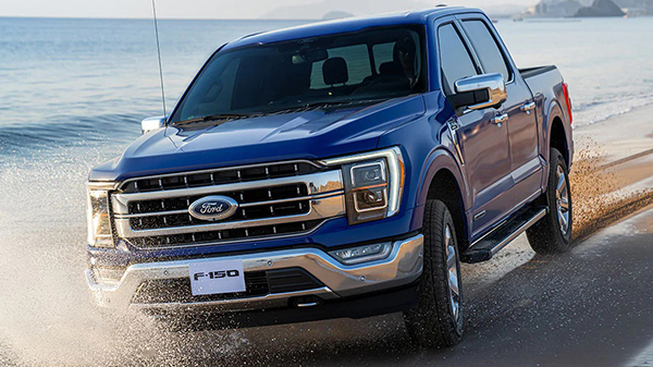 Exterior of the 2021 Ford F-150