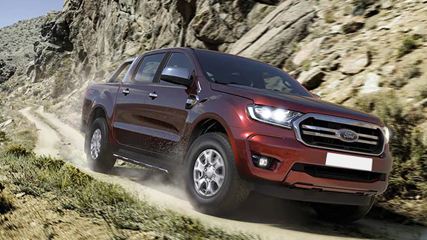 Exterior of the 2021 Ford Ranger