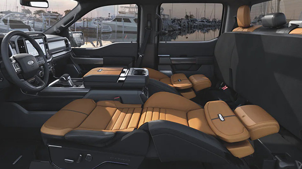 Interior of the 2021 Ford F-150