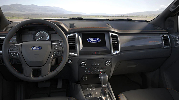 Interior of the 2021 Ford Ranger